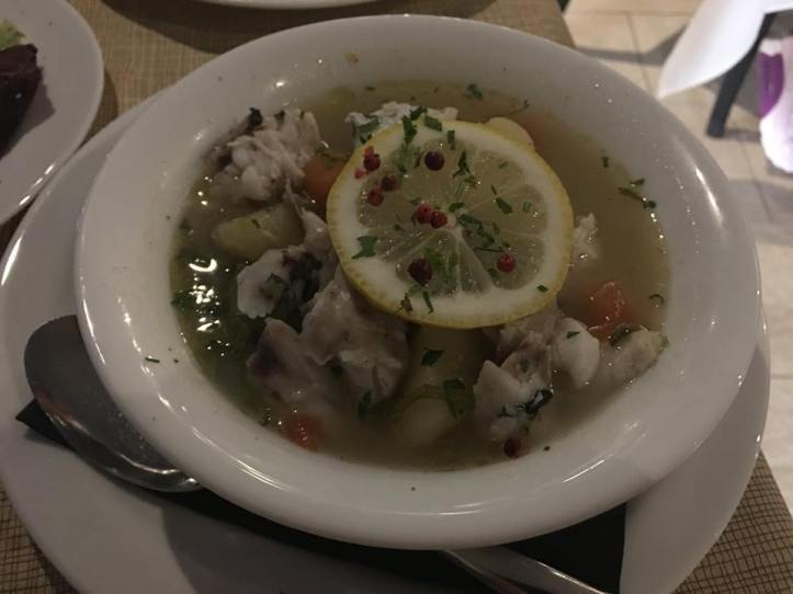 Santorini DInner - Fish Soup
